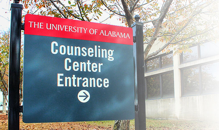 Counseling Center entrance sign